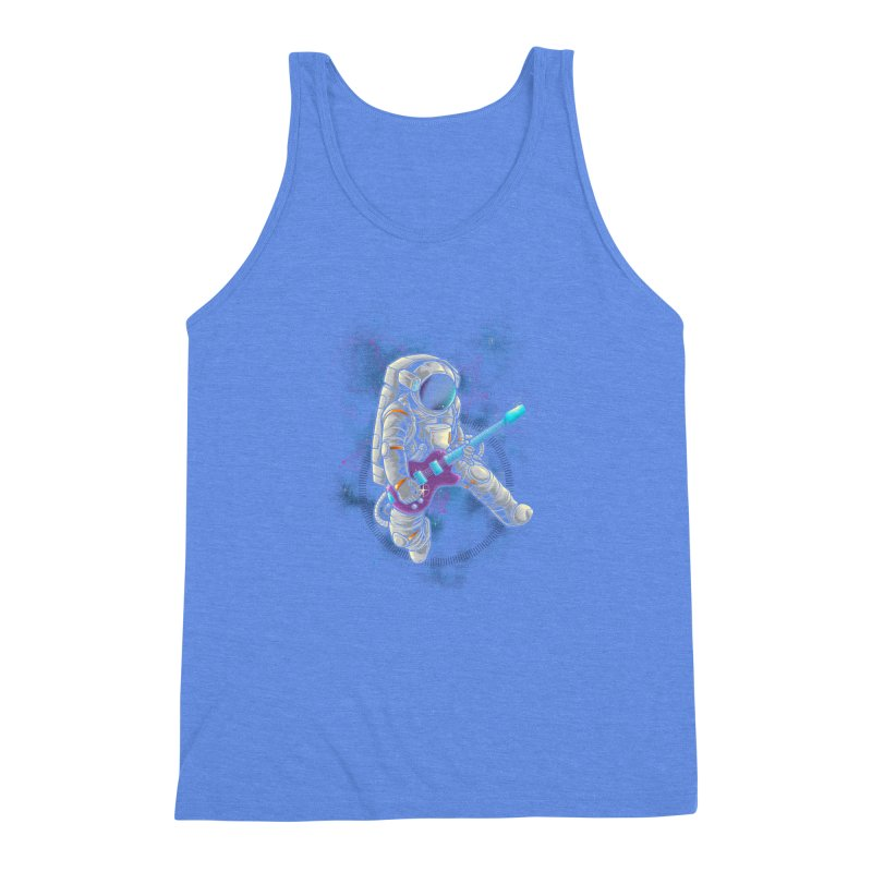 Rocker spaceman Men's Triblend Tank by angoes25's Artist Shop