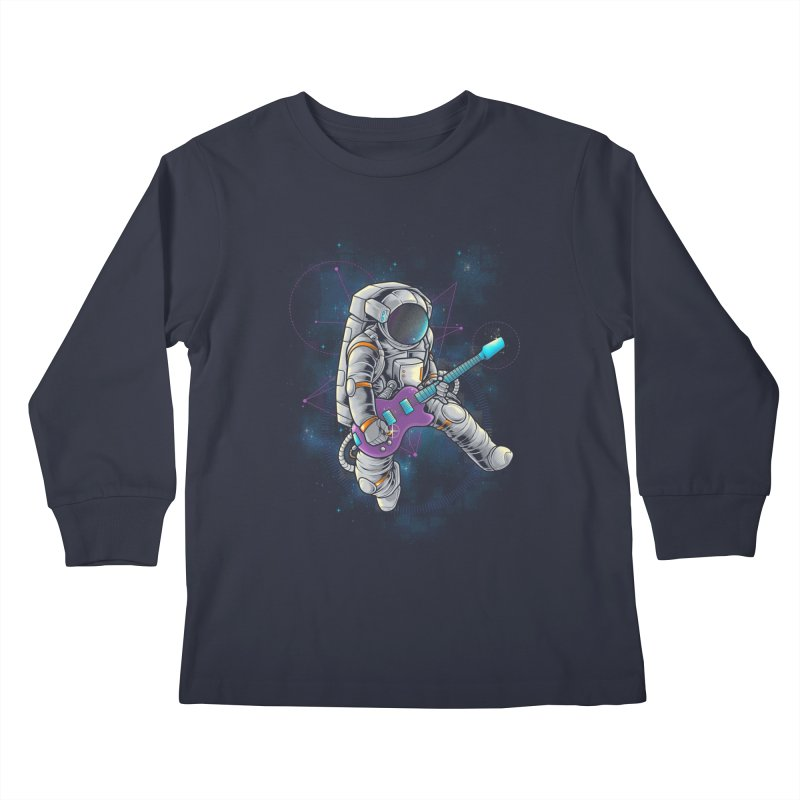 Rocker spaceman Kids Longsleeve T-Shirt by angoes25's Artist Shop