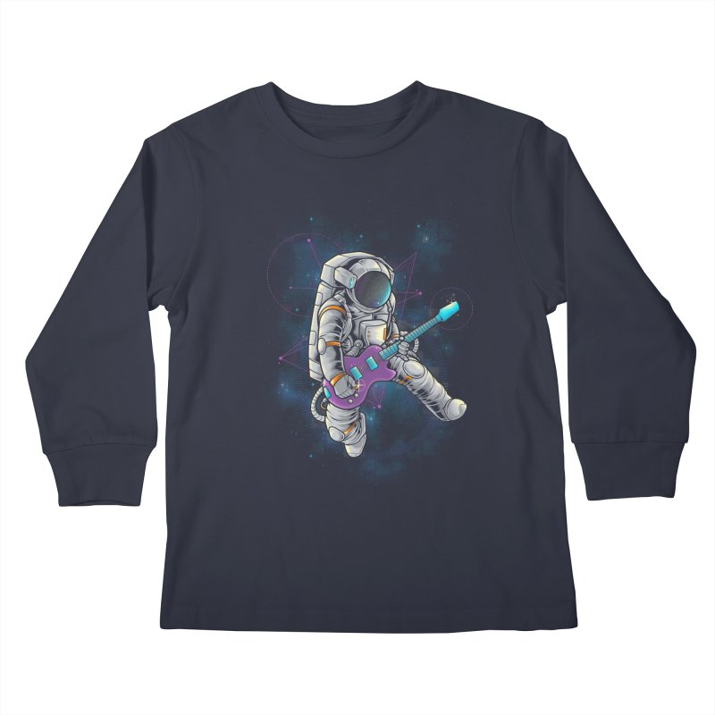 Rocker spaceman Kids Longsleeve T-Shirt by angoes25's Artist Shop