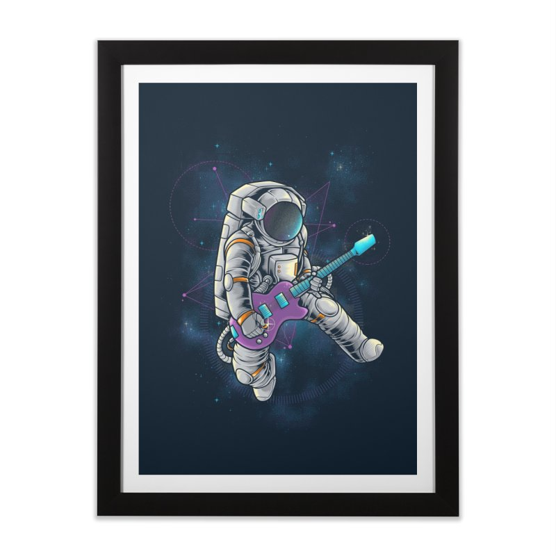 Rocker spaceman Home Framed Fine Art Print by angoes25's Artist Shop