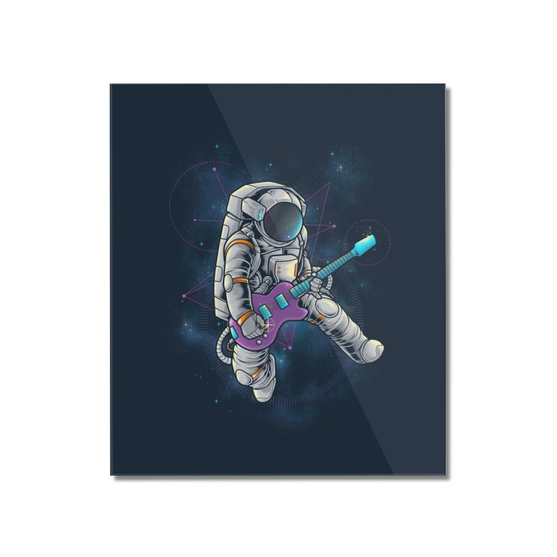 Rocker spaceman Home Mounted Acrylic Print by angoes25's Artist Shop