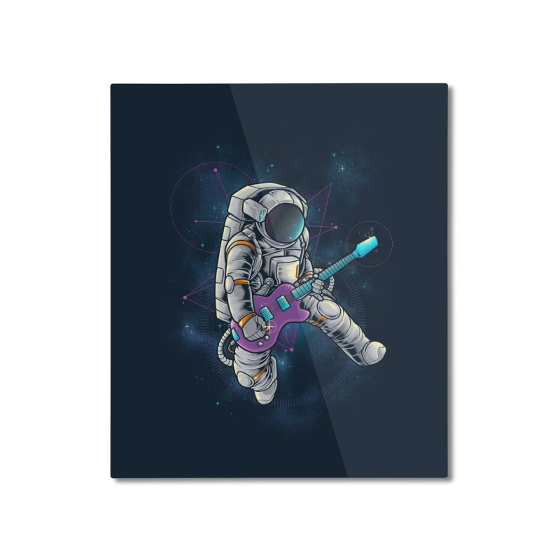 Rocker spaceman Home Mounted Aluminum Print by angoes25's Artist Shop