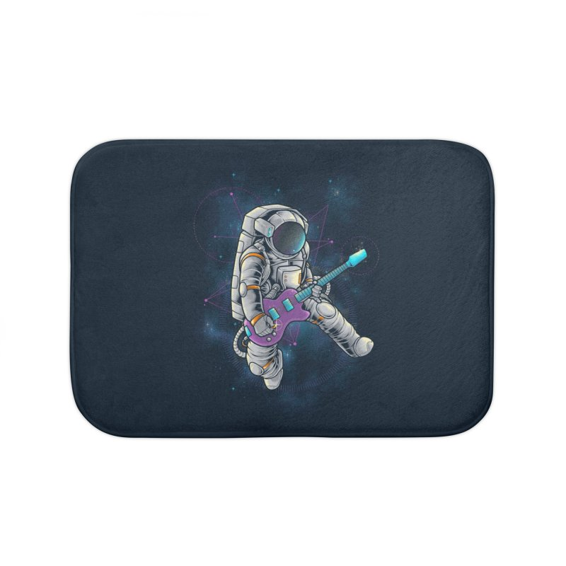 Rocker spaceman Home Bath Mat by angoes25's Artist Shop