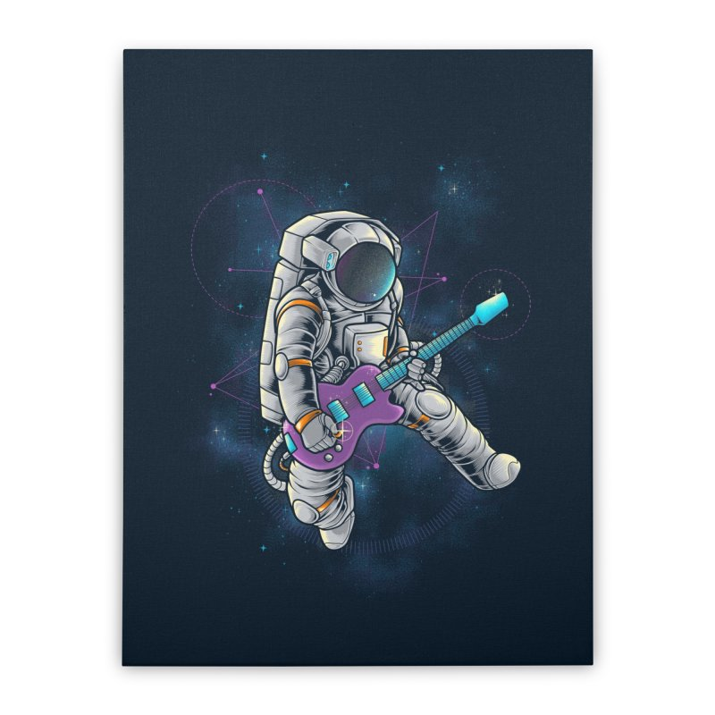 Rocker spaceman Home Stretched Canvas by angoes25's Artist Shop
