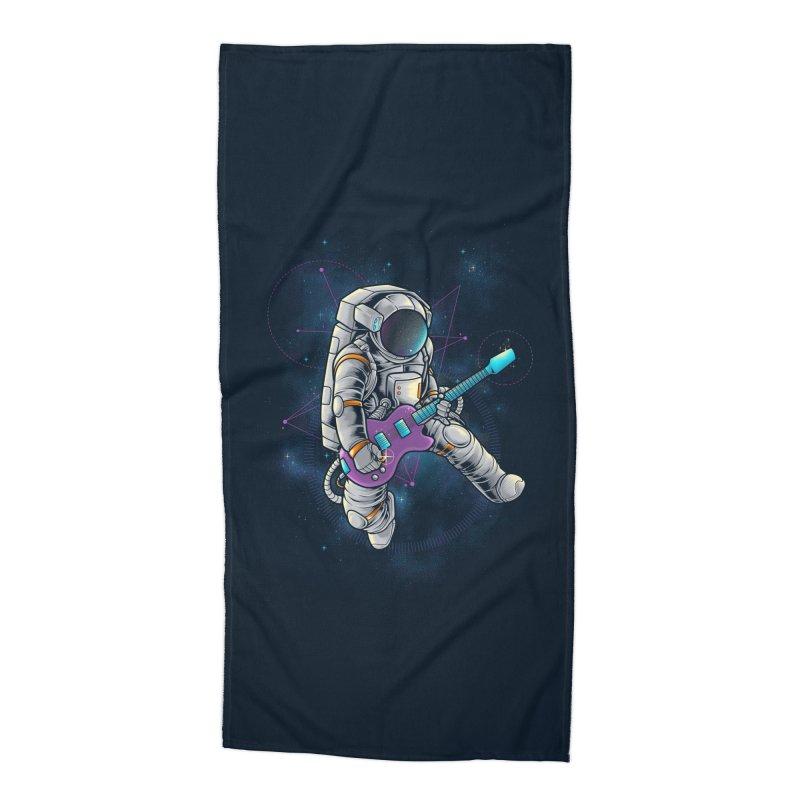 Rocker spaceman Accessories Beach Towel by angoes25's Artist Shop