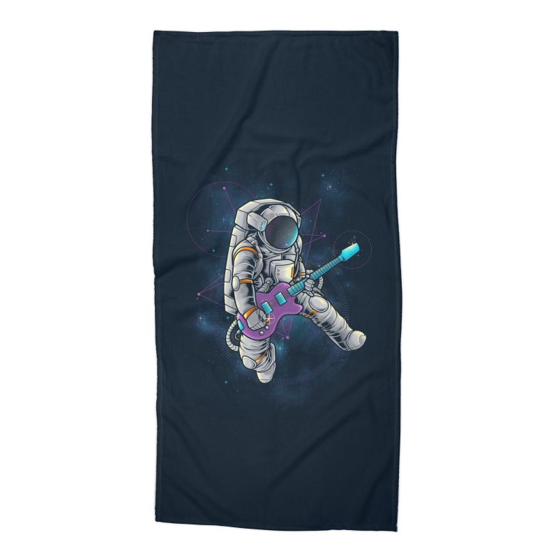 Rocker spaceman Accessories Beach Towel by angoes25's Artist Shop