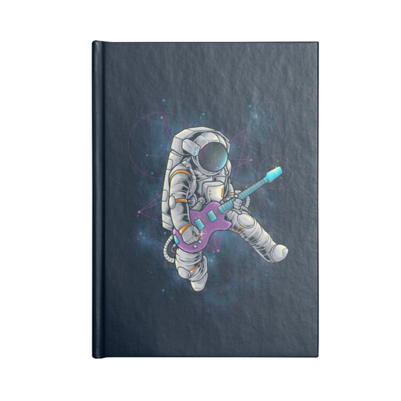 Rocker spaceman Accessories Lined Journal Notebook by angoes25's Artist Shop