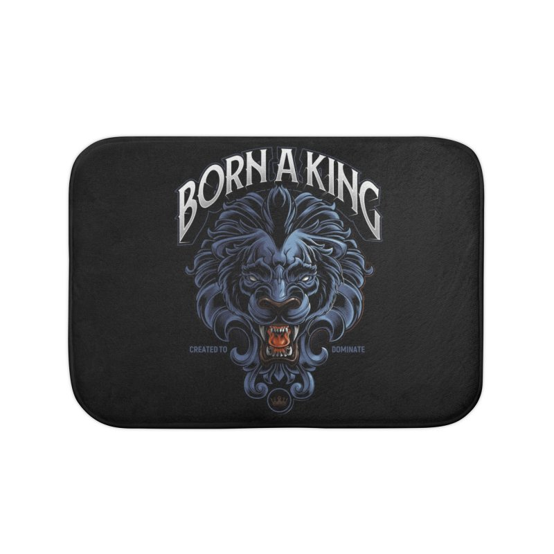 Born A King Home Bath Mat by angoes25's Artist Shop