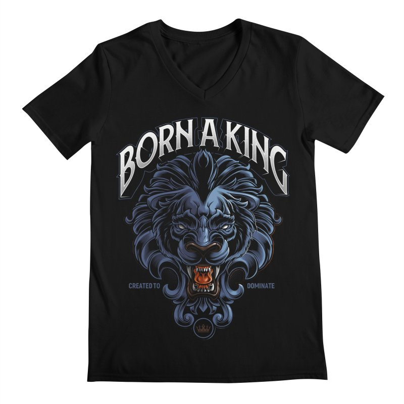 Born A King Men's Regular V-Neck by angoes25's Artist Shop