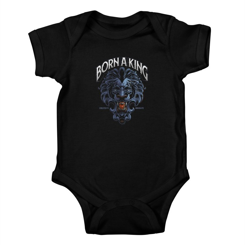 Born A King Kids Baby Bodysuit by angoes25's Artist Shop