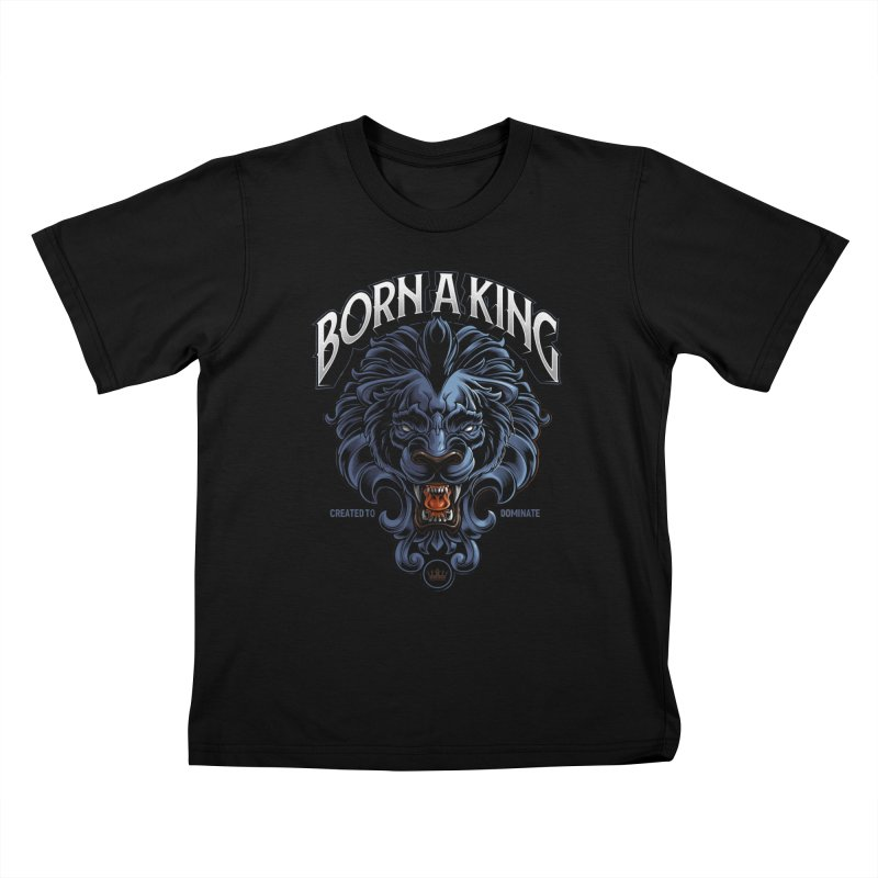 Born A King Kids T-Shirt by angoes25's Artist Shop