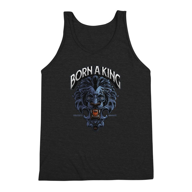 Born A King Men's Triblend Tank by angoes25's Artist Shop