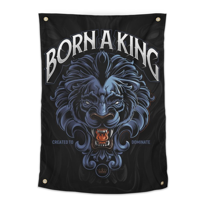 Born A King Home Tapestry by angoes25's Artist Shop