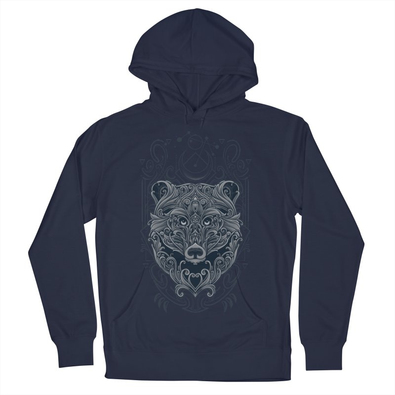 Bear of Wildness Spirit Women's French Terry Pullover Hoody by angoes25's Artist Shop