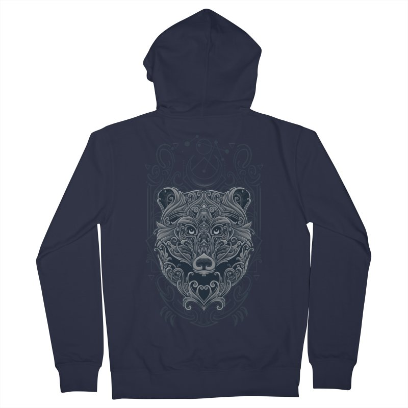 Bear of Wildness Spirit Women's French Terry Zip-Up Hoody by angoes25's Artist Shop