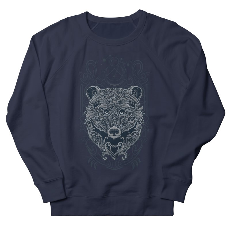 Bear of Wildness Spirit Men's French Terry Sweatshirt by angoes25's Artist Shop