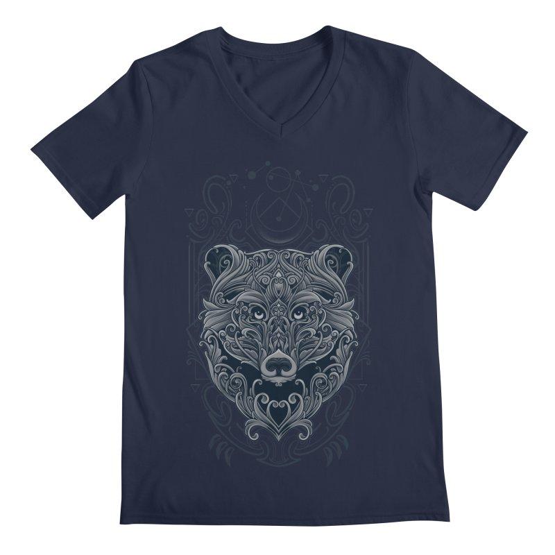 Bear of Wildness Spirit Men's Regular V-Neck by angoes25's Artist Shop