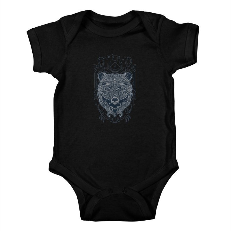 Bear of Wildness Spirit Kids Baby Bodysuit by angoes25's Artist Shop