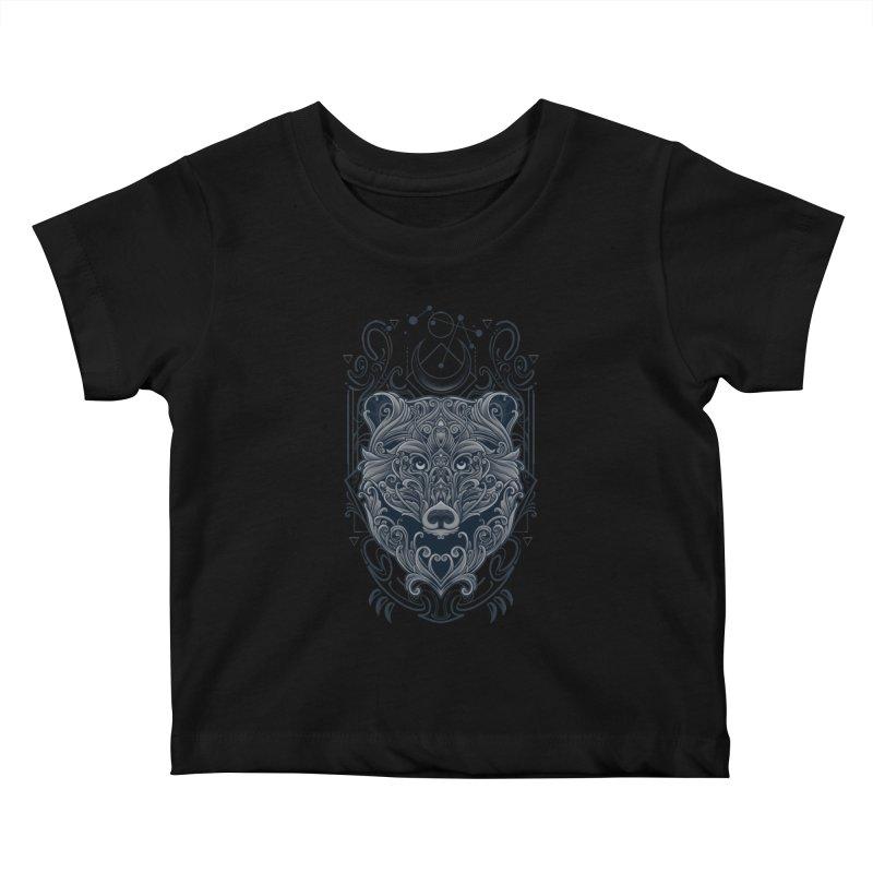 Bear of Wildness Spirit Kids Baby T-Shirt by angoes25's Artist Shop