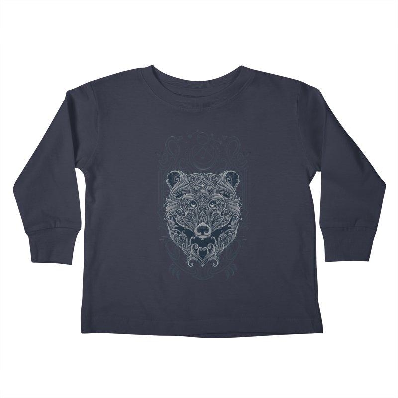 Bear of Wildness Spirit Kids Toddler Longsleeve T-Shirt by angoes25's Artist Shop