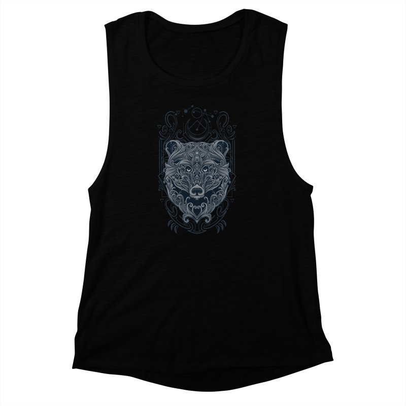 Bear of Wildness Spirit Women's Muscle Tank by angoes25's Artist Shop