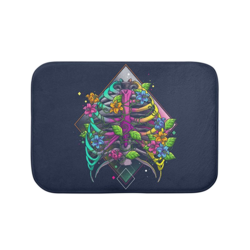 Psychederib Home Bath Mat by angoes25's Artist Shop