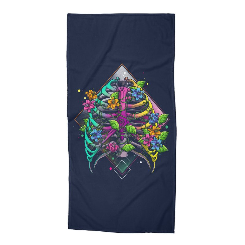 Psychederib Accessories Beach Towel by angoes25's Artist Shop