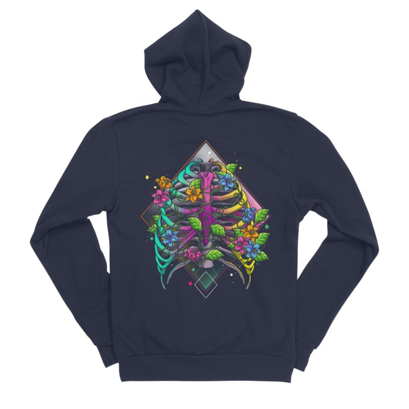 Psychederib Men's Sponge Fleece Zip-Up Hoody by angoes25's Artist Shop