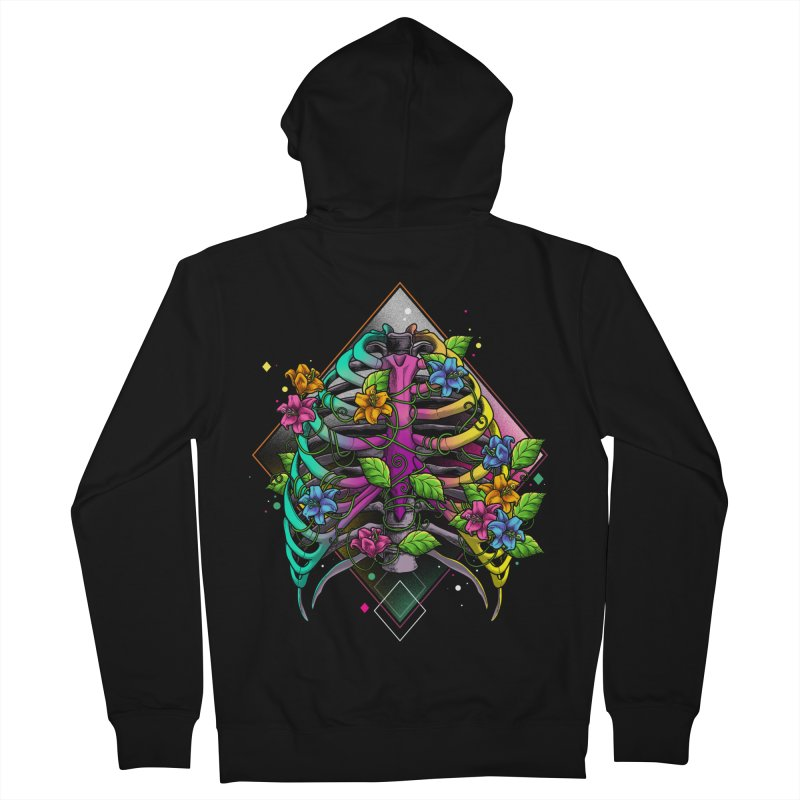 Psychederib Women's French Terry Zip-Up Hoody by angoes25's Artist Shop