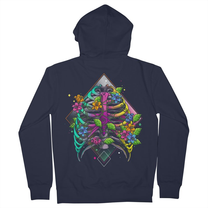 Psychederib Men's French Terry Zip-Up Hoody by angoes25's Artist Shop