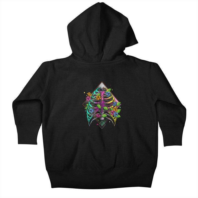 Psychederib Kids Baby Zip-Up Hoody by angoes25's Artist Shop