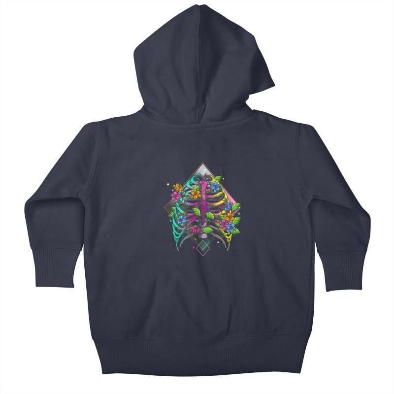 Psychederib Kids Baby Zip-Up Hoody by angoes25's Artist Shop
