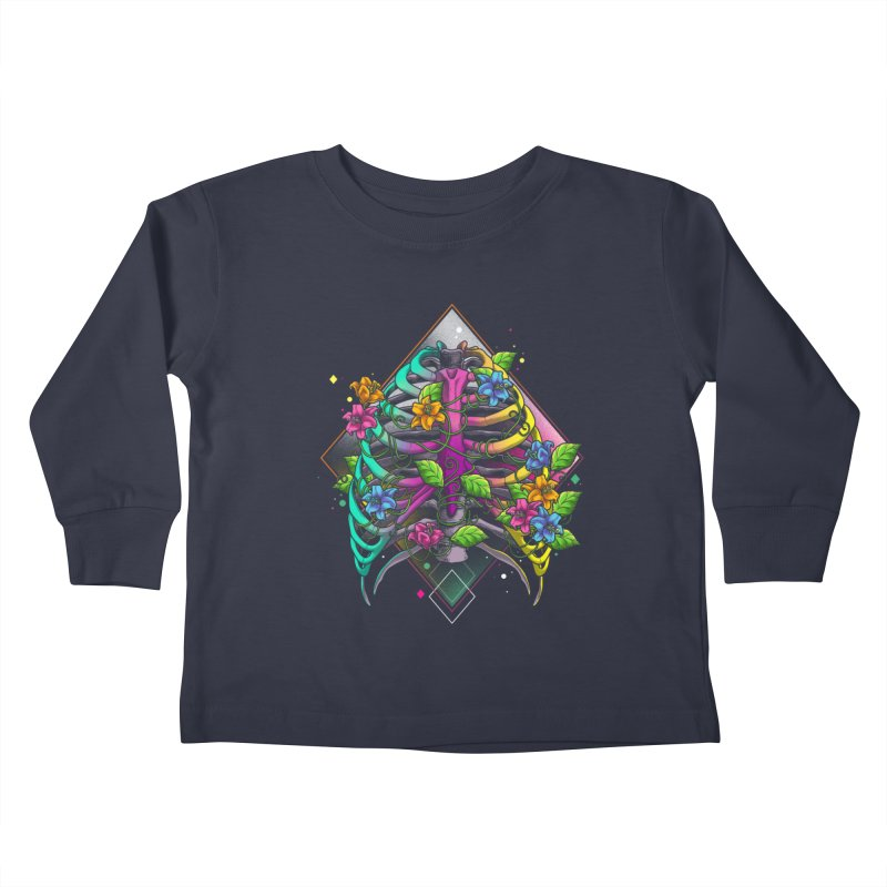 Psychederib Kids Toddler Longsleeve T-Shirt by angoes25's Artist Shop