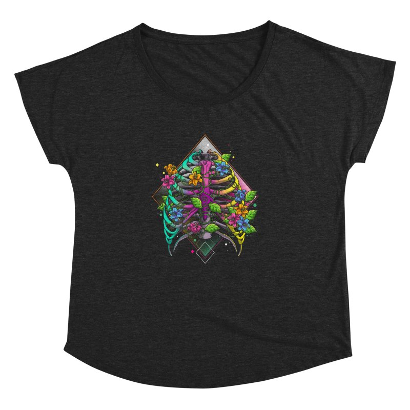 Psychederib Women's Dolman Scoop Neck by angoes25's Artist Shop