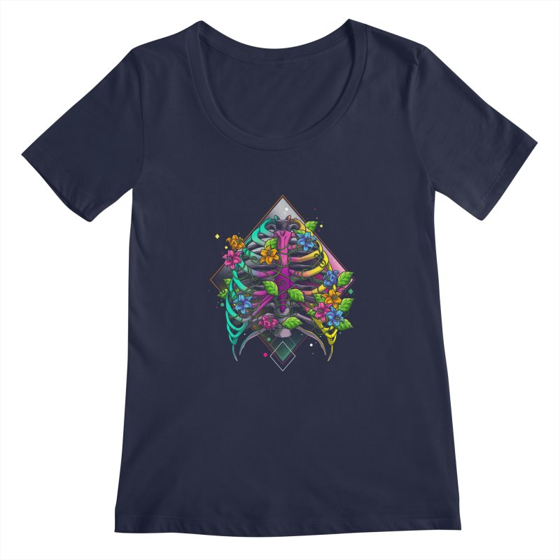 Psychederib Women's Regular Scoop Neck by angoes25's Artist Shop