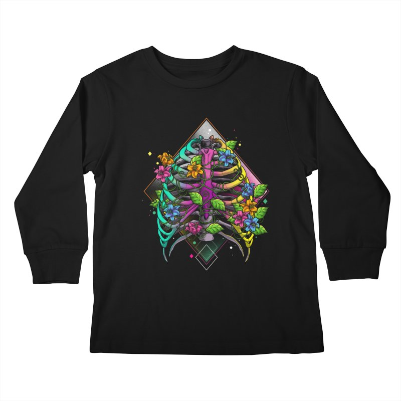 Psychederib Kids Longsleeve T-Shirt by angoes25's Artist Shop