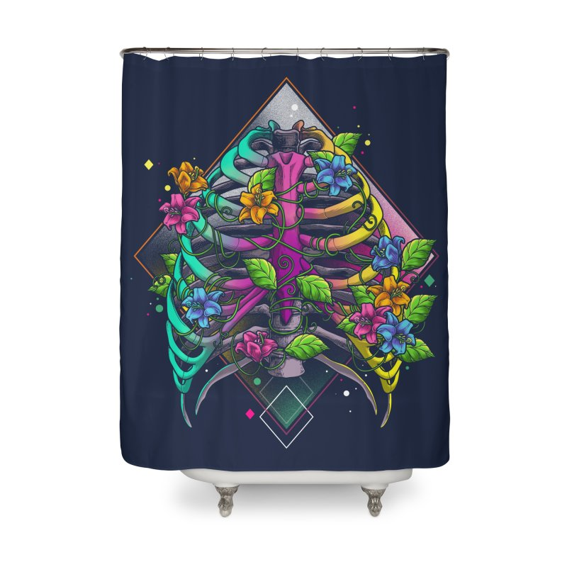 Psychederib Home Shower Curtain by angoes25's Artist Shop