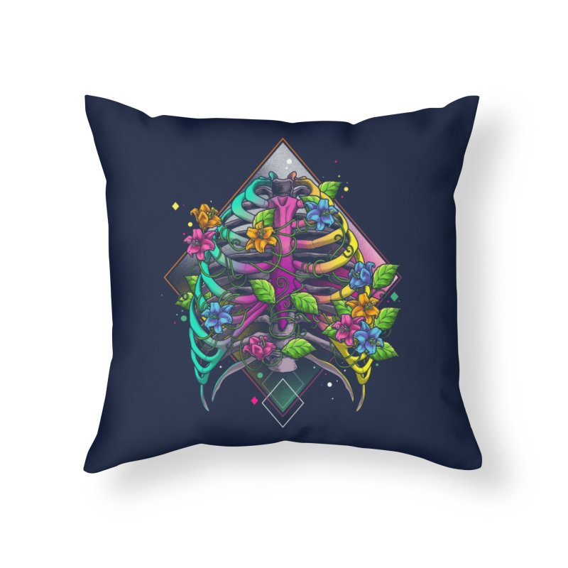 Psychederib Home Throw Pillow by angoes25's Artist Shop