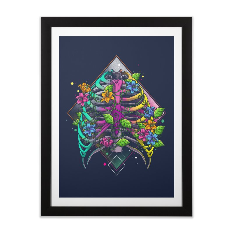 Psychederib Home Framed Fine Art Print by angoes25's Artist Shop