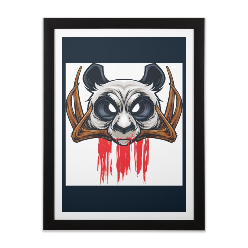 Bad Panda Home Framed Fine Art Print by angoes25's Artist Shop