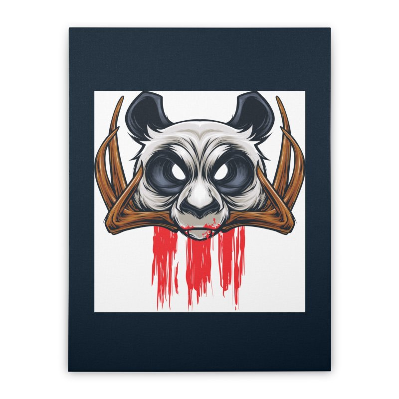 Bad Panda Home Stretched Canvas by angoes25's Artist Shop