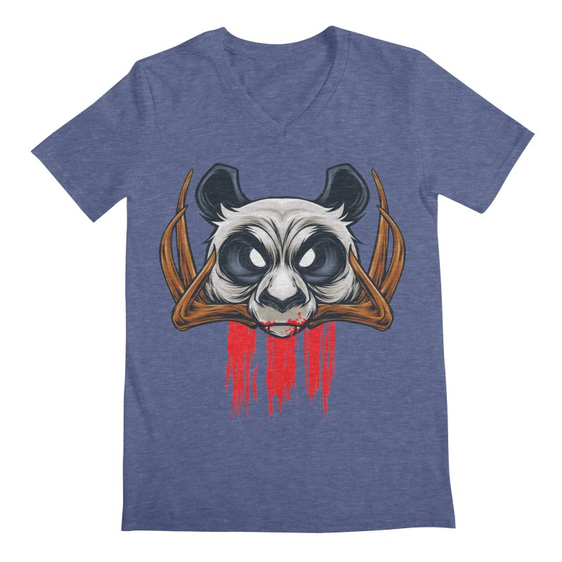 Bad Panda Men's Regular V-Neck by angoes25's Artist Shop