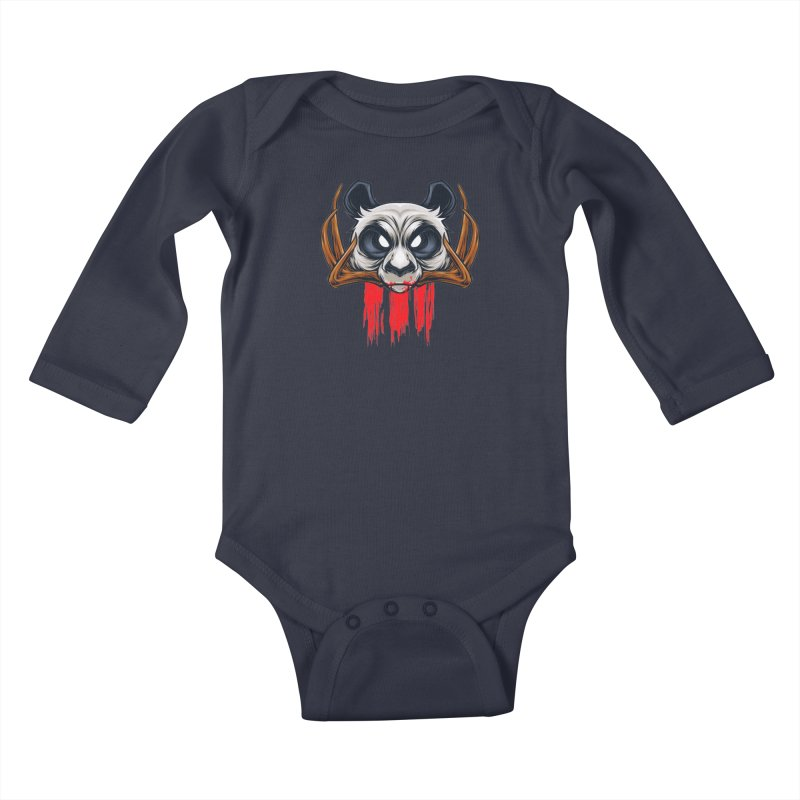 Bad Panda Kids Baby Longsleeve Bodysuit by angoes25's Artist Shop