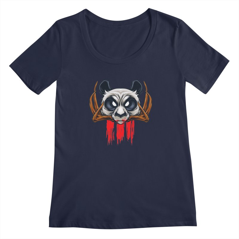 Bad Panda Women's Scoopneck by angoes25's Artist Shop