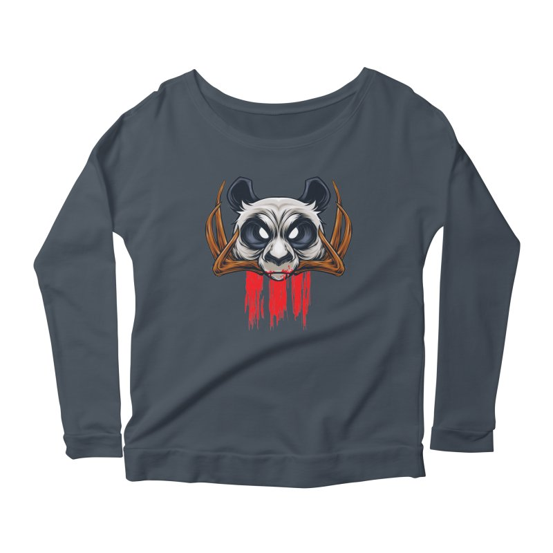 Bad Panda Women's Longsleeve Scoopneck  by angoes25's Artist Shop