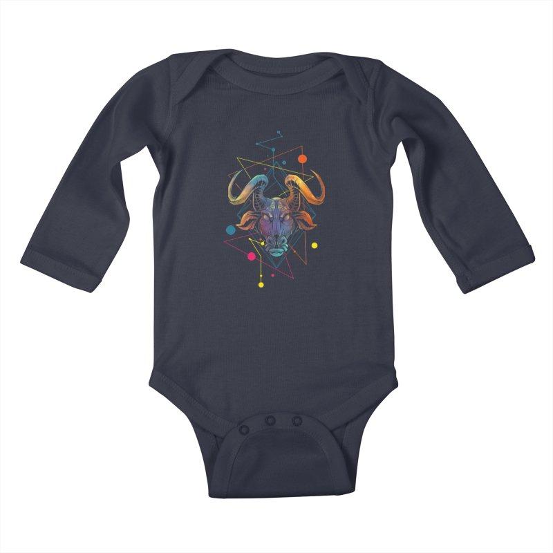 Taurus Kids Baby Longsleeve Bodysuit by angoes25's Artist Shop