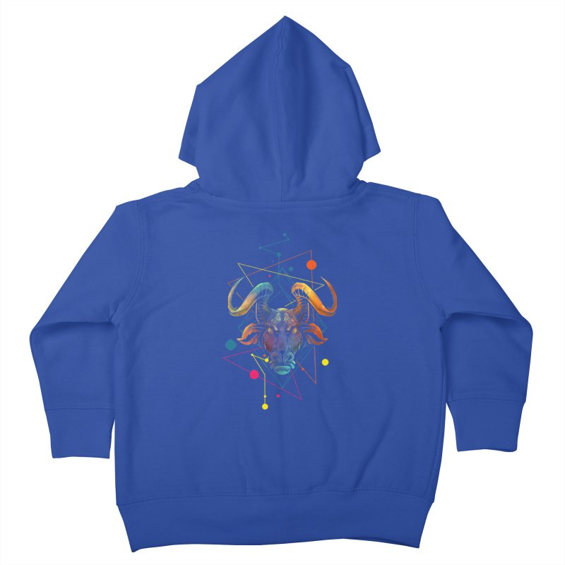 Taurus Kids Toddler Zip-Up Hoody by angoes25's Artist Shop