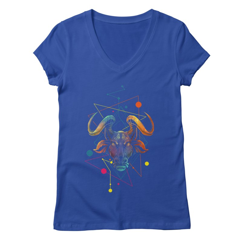 Taurus Women's V-Neck by angoes25's Artist Shop
