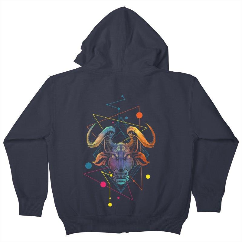 Taurus Kids Zip-Up Hoody by angoes25's Artist Shop