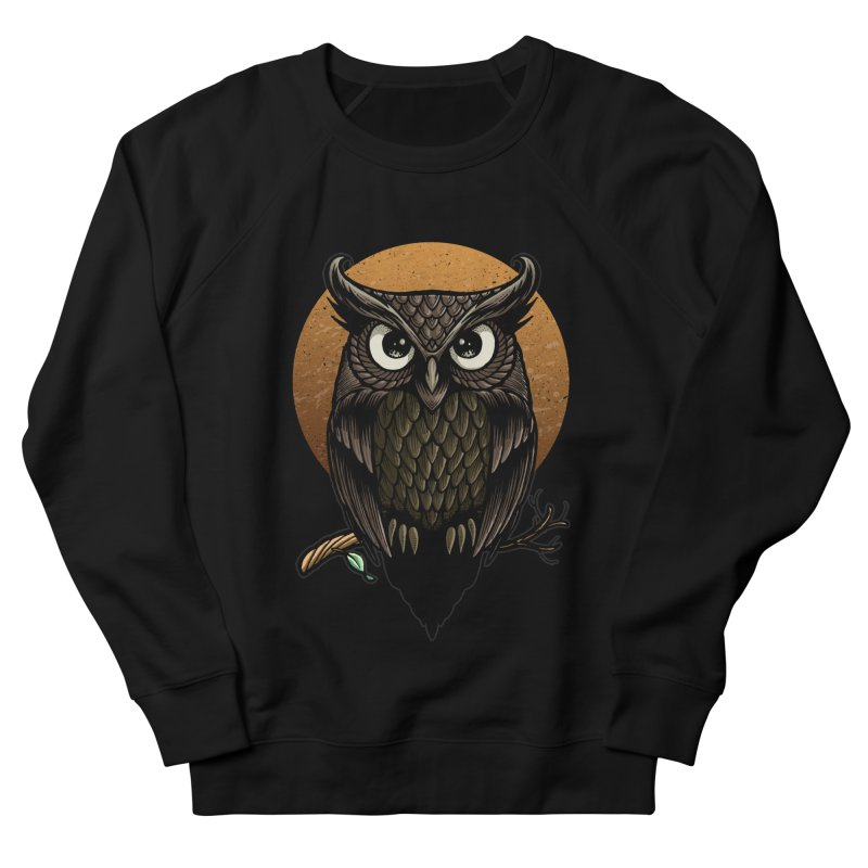 Owl-Fullmoon Men's French Terry Sweatshirt by angoes25's Artist Shop